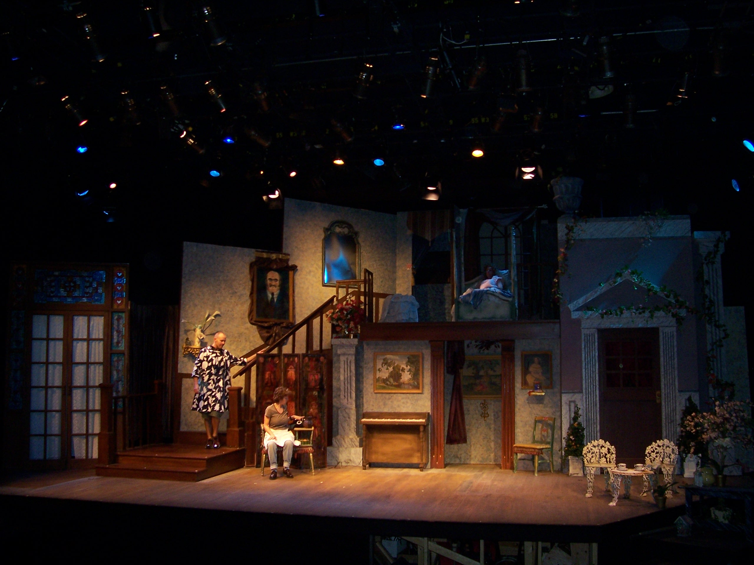 the two story set of 'Hush Up Sweet Charlotte'