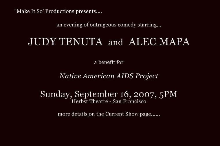 Judy Tenuta & Alec Mapa mailer