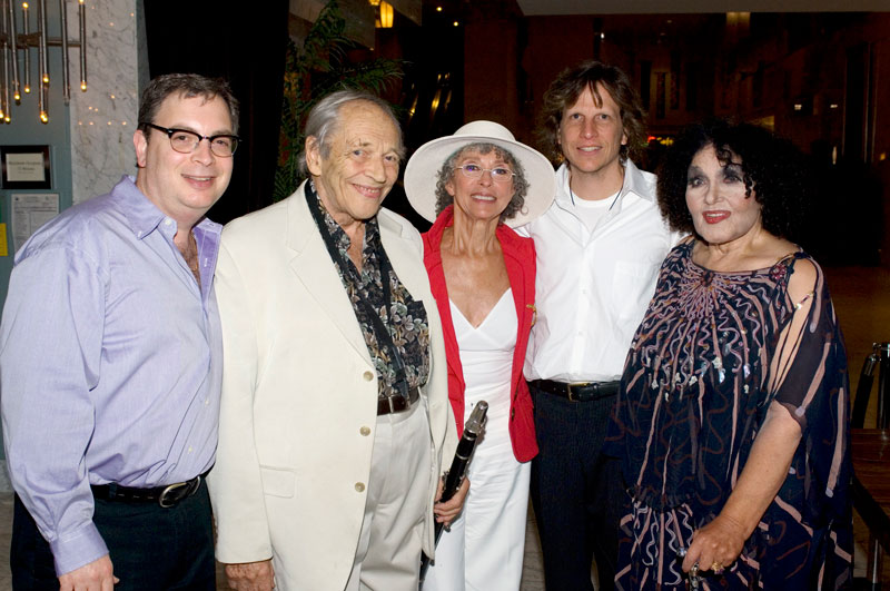 The great Dame Cleo Laine and husband Sir John Dankworth with RRazz Room owners Rory Paull and Robert Kortonly and Rita Moreno