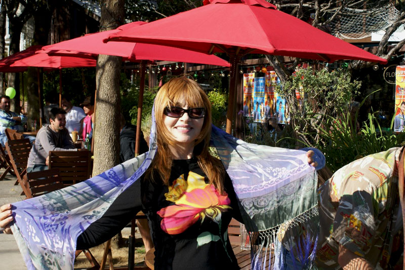 Judy Tenuta at the Cafe Flore press stop