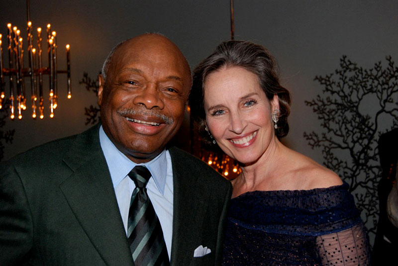 Andrea Marcovicci with ex-SF Mayor Willie Brown