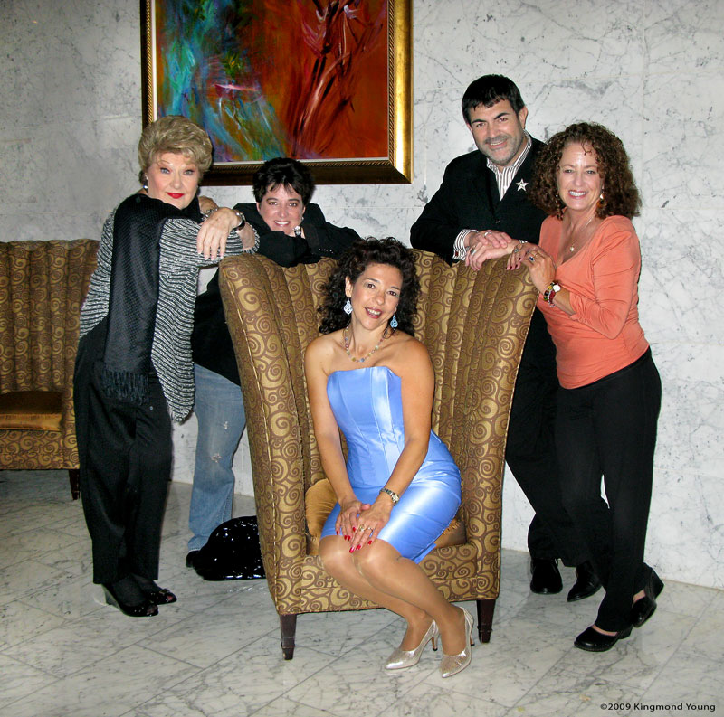 Marilyn Maye, Terese Genecco, Lua Hadar (seated), BArry Lloyd and Linda Kosut