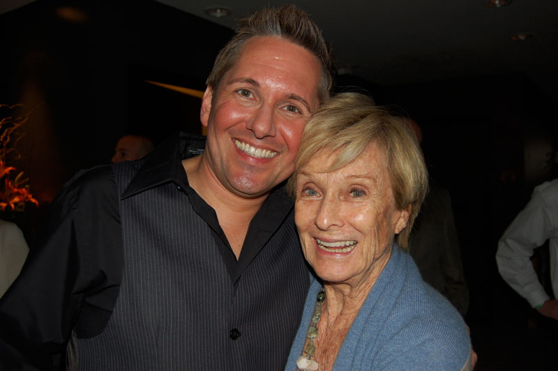 Jimmy Van Slyke with Cloris Leachman