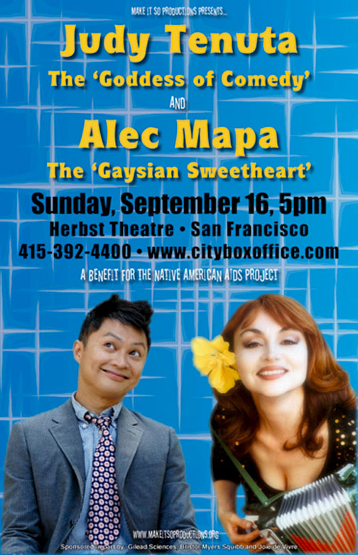 Judy Tenuta & Alec Mapa show poster