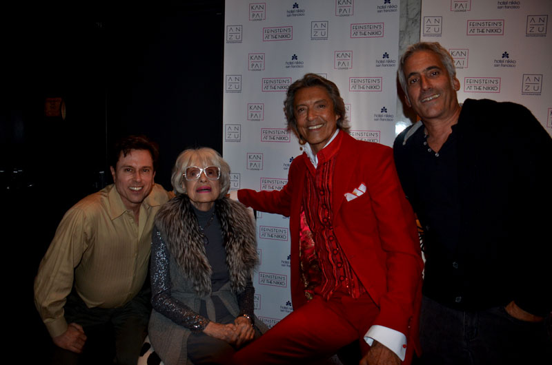Tommy Tune, Carol Channing, Larry Horowitz and me
